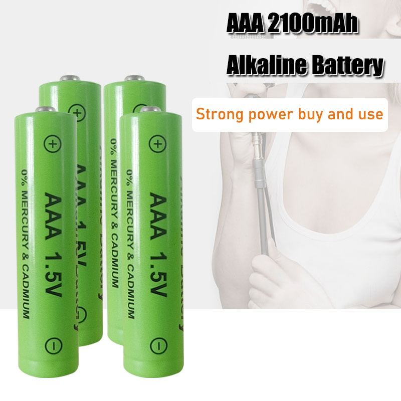 1-4PCS 100% New AAA Battery 2200mah 1.5V Alkaline AAA rechargeable battery for Remote Control Toy light Batery