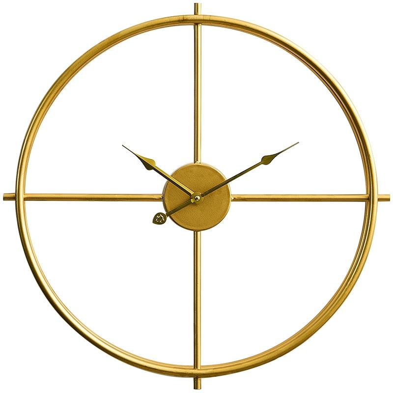 Lujoso Reloj de pared dorado grande con diseño moderno para exteriores, creativo estilo europeo, sala de estar grande para reloj de pared, reloj de decoración Wandklok