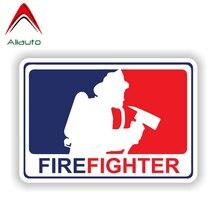 Aliauto Personality Car Sticker Major League Firefighter Decorative PVC Decal Cover Scratches for Jdm Hyundai Gti Bmw,13cm*9cm