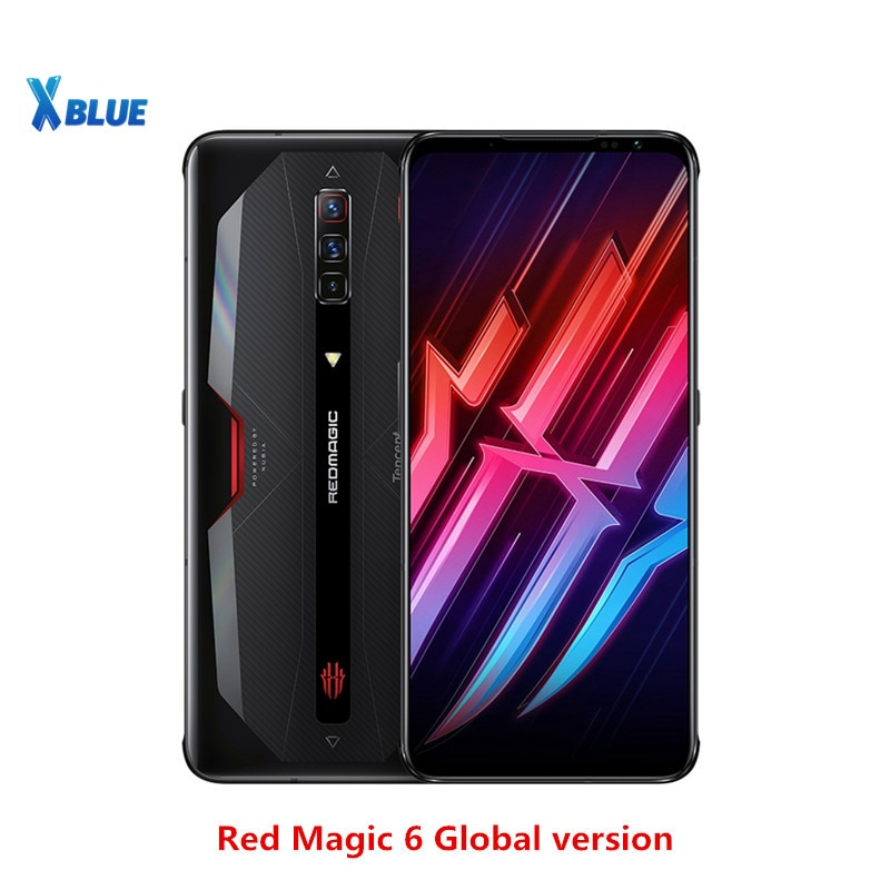 Глобальная версия Nubia красный Магия 6 5G Смартфон Snapdragon 888 рамка Redmagic мобильный телефон 5050 мА/ч, Google Play 66W Супер Зарядное устройство