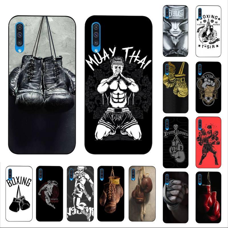 MaiYaCa, Muay Thai, guantes de boxeo, funda negra suave para teléfono Samsung A6 30s A50 70 10 40 51 20 71 30 20s A7 8 2018