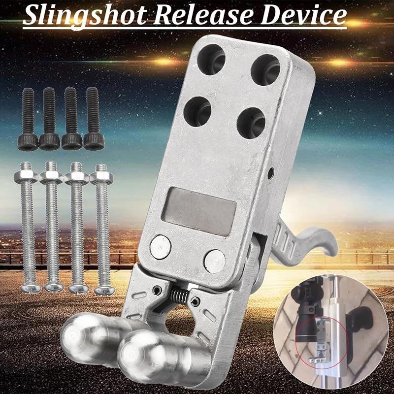 1pc slingshot rifle trigger device catapult slingshot trigger release device mechanical dispenser polishing fish outdoor enlarge
