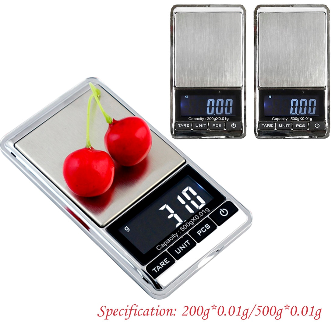 200g/500g x 0.01g Mini Electronic Scales Jewelry Balance Gram Portable Pocket LCD Digital Scale for Gold Sterling