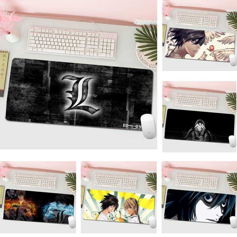 Death Note Locking Edge Mouse Pad Game Gaming Mousepad XL Large Gamer Keyboard PC Desk Mat Computer Tablet Mouse Pad