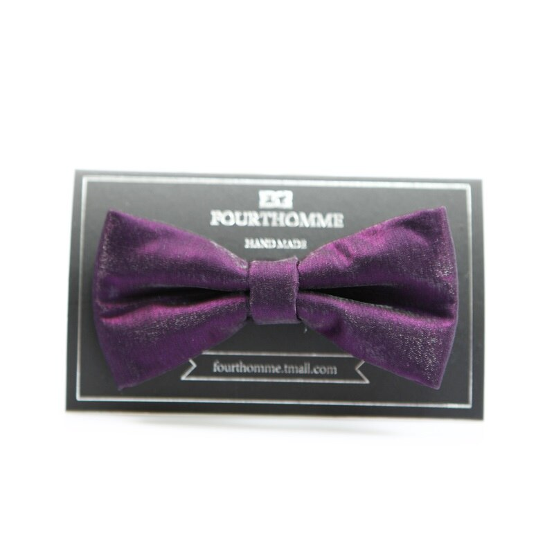 High Quality 2020 New Arrivals Bow Ties for Men Designers Brand Noble Purple Vintage Wedding Bowties Luxury Butterfly Gift Box