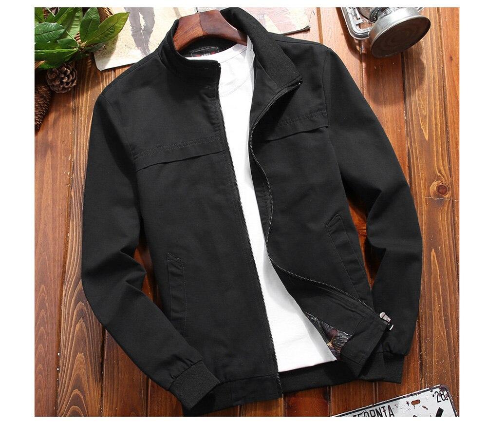 Осенняя мужская куртка-бомбер, повседневная мужская верхняя одежда, ветровка в стиле милитари, мужская приталенная бейсбольная куртка с во...
