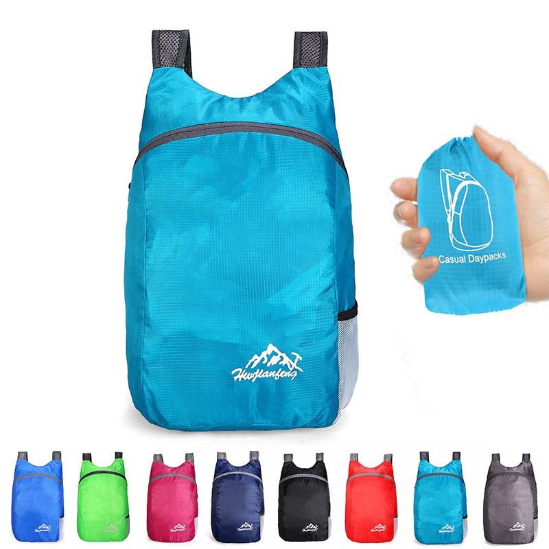 20L Waterproof Backpack Ultralight Foldable Bag Breathable Shoulder Strap Outdoor Camping Hiking Backpack With Storage Bag 2021 2018 life is strange backpack with butterfly pattern shoulder bag