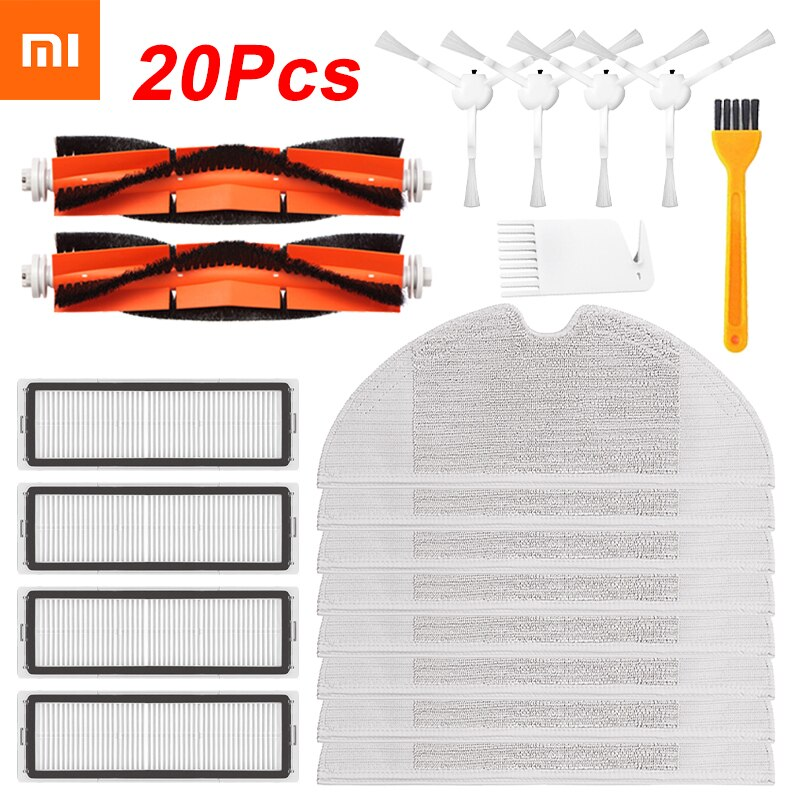 20/14/8pcs Hepa Filter Main Brush Mop Cloth Replacement Kits for Xiaomi Mijia 1C / STYTJ01ZHM Robot Vacuum Cleaner Accessories