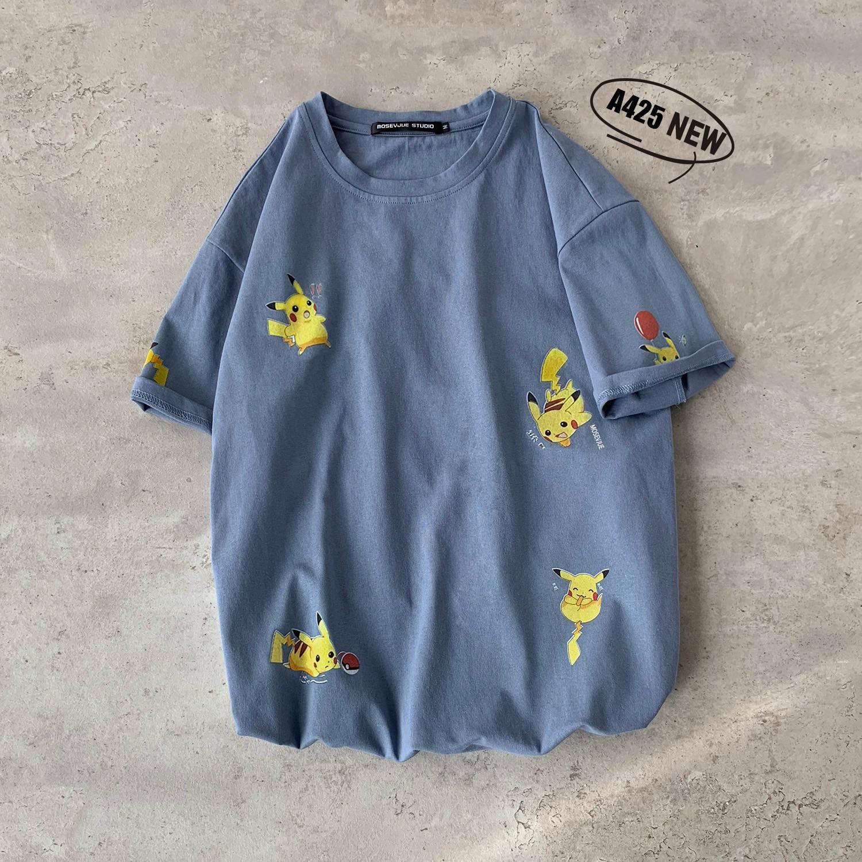 2020 neue Baumwolle Harajuku Streetwear Pokemon Detektiv Pikachu Cartoon Kurzarm Casual Lustige T Hemd