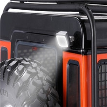 Projecteur carré arrière pour 1/10 Traxxas TRX4 Defender SCX10 90046 RC pièces de voiture sur chenilles accessoires