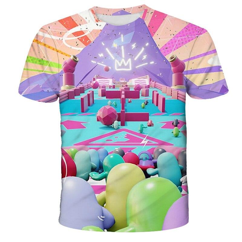 "Camisetas con estampado 3D de ""Ultimate Knockout"" para niño/niña, ropa informal, camiseta de manga corta Harajuku, Top 2020"