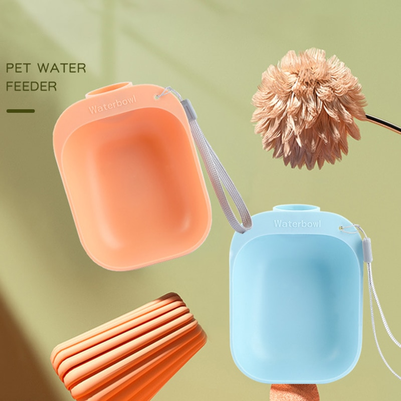 Pet Accompanying Cups, Out-going Cups, Bowls, Dog Drinking Fountains, Outdoor Hanging Portable Travel Dog Cups