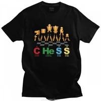 fashion t shirt gifts classic chess periodic elewoments tshirt for women short sleeve streetwear chess board game