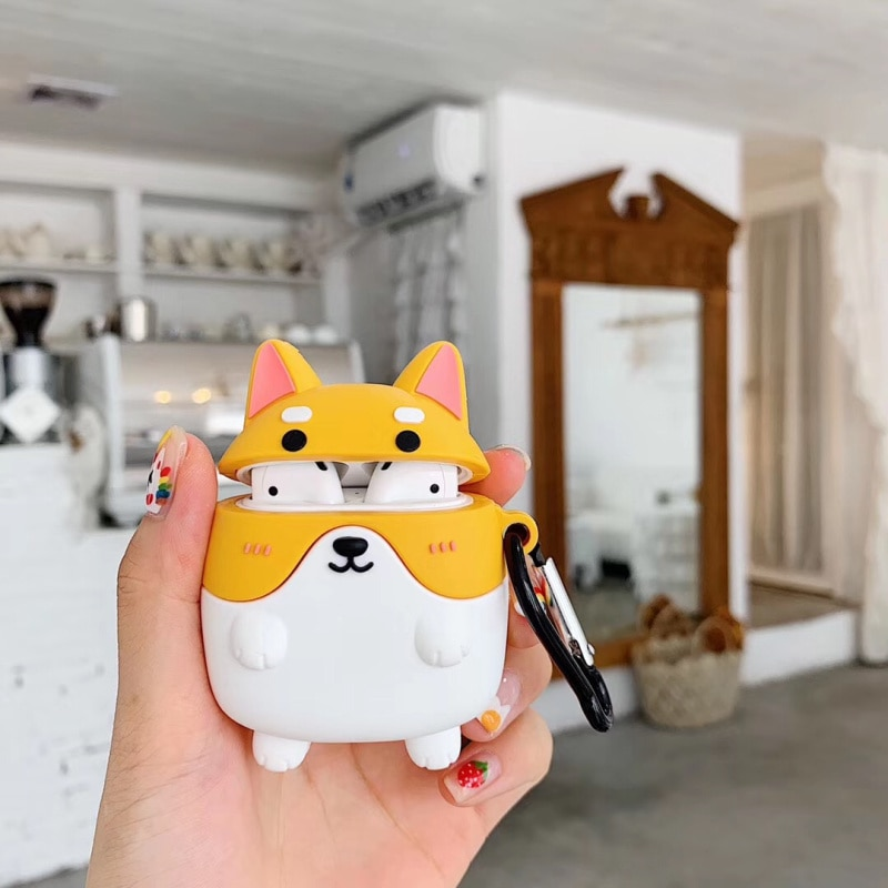 Soft Silicone Case for Apple AirPods 1 2 Cute Cartoon Puppy Earphone Case Protective Cover for AirPod 1 Case Charging Box Dog enlarge
