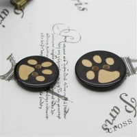 2050pcs two eye dog paw resin buttons childrens cartoon footprint bear paw button sweater cardigan hand sewing button supplies