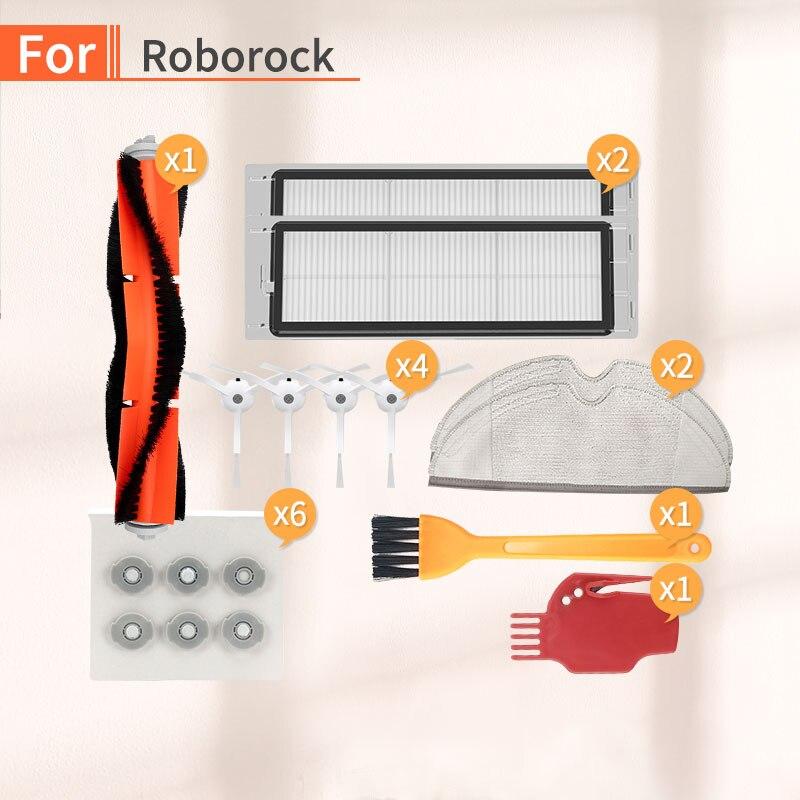 Accesorios de Robot aspirador Cepillo Lateral filtro HEPA accesorios para xiaomi 1S 2S roborock s50 s55 s6 piezas de repuesto