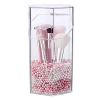 acrylic cosmetic organizer makeup brush container storage box holder lipstick storage container pencil clear box without pearl