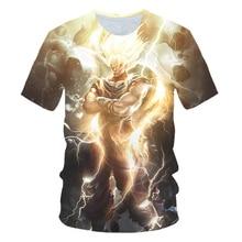 Dragon Ball T-shirt 3d T-shirt Anime hommes T-shirt à manches courtes Dragon Ball Z été T-shirt hommes Saiyan végéta Harajuku vêtements