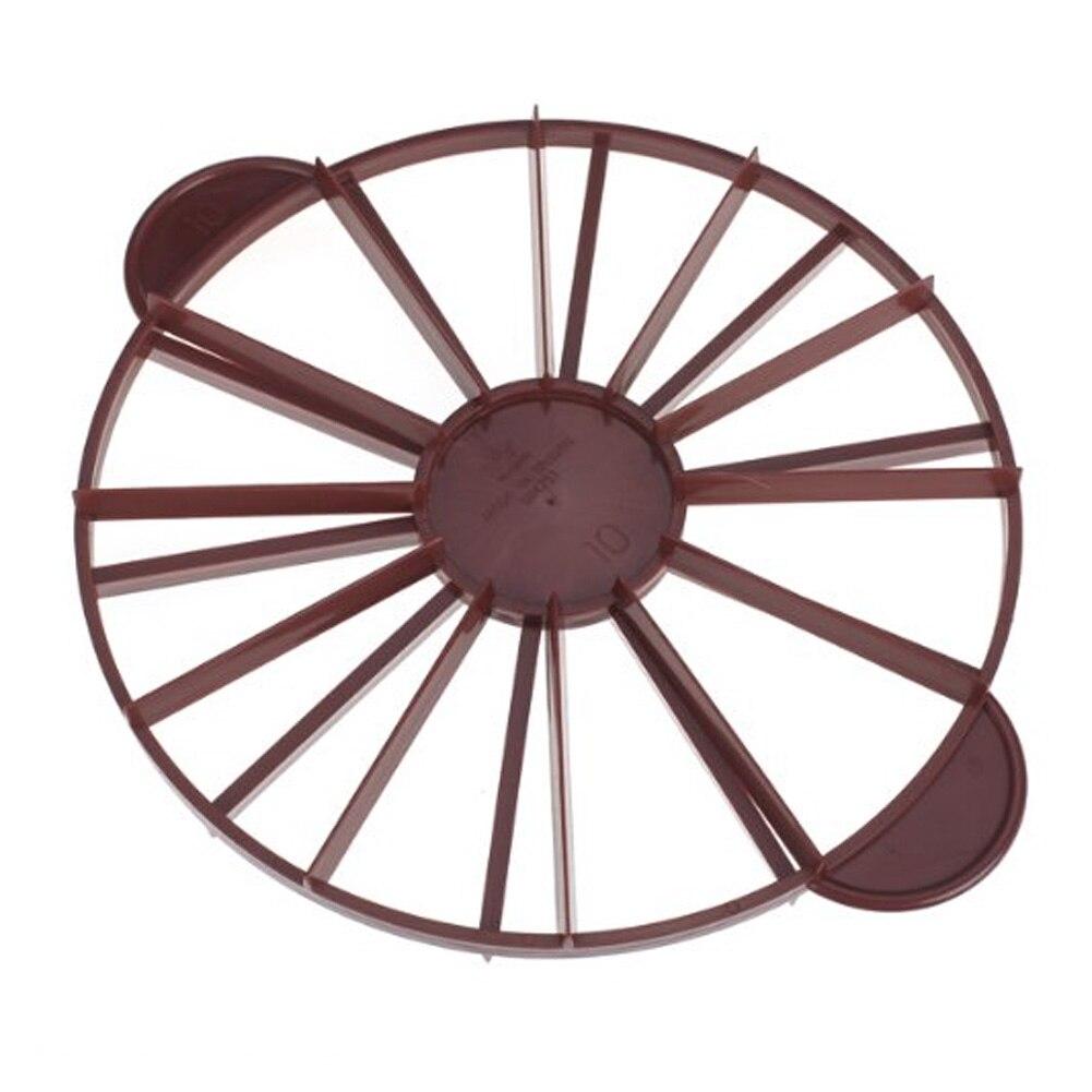 Kunststoff Marker Pie Kuchen Divider Slicer Cutter Scheibe Drücken Brot 10/12 Stück Backformen Runde Gleich Teil