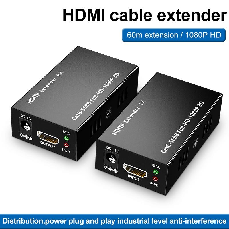 Extensor hdmi rj45 4k hdmi extensor cat5 60m 120m hdmi extensor audio...