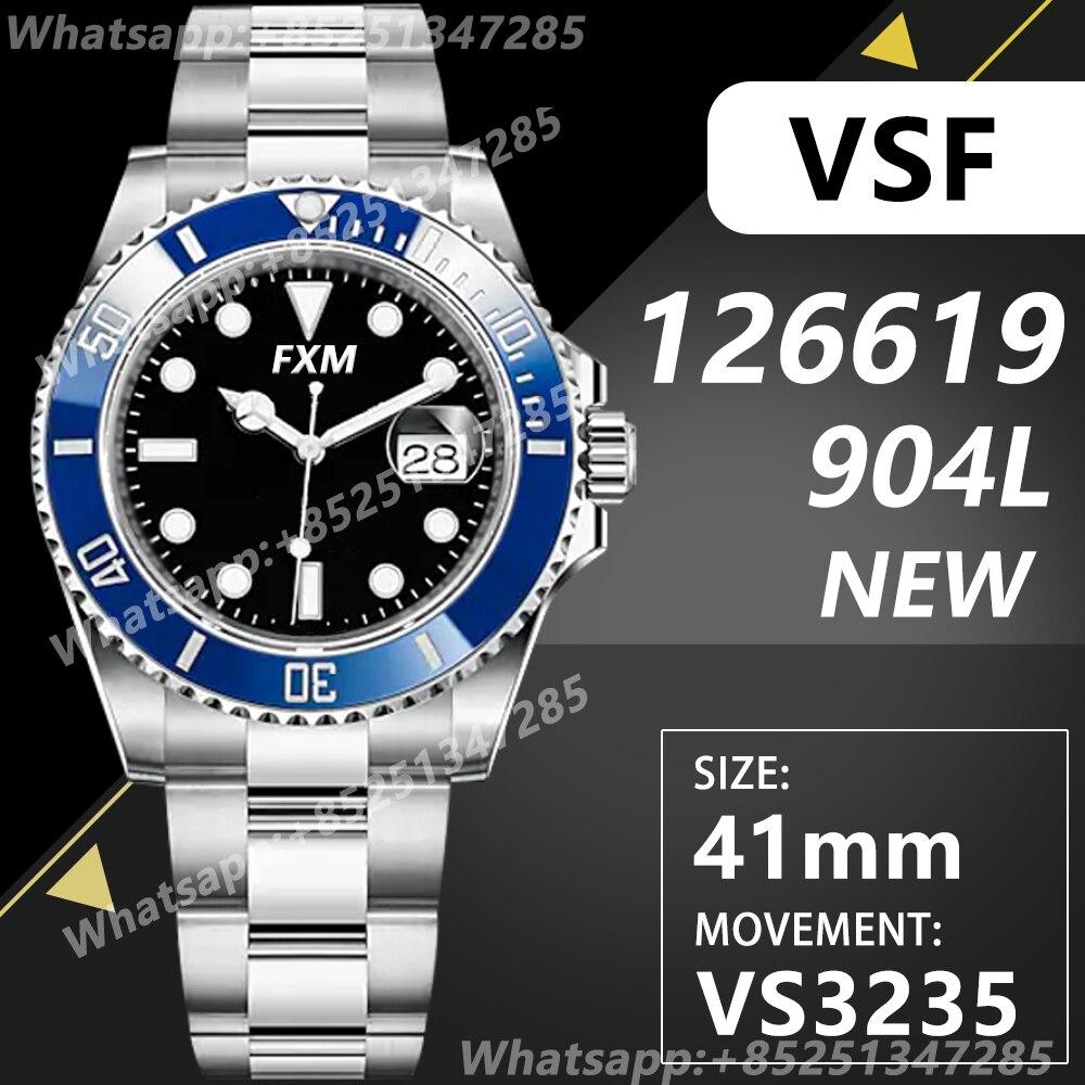 الرجال التلقائي الميكانيكية العلوي ساعة فاخرة طاقم الغواصة 41 مللي متر NOOB 126619 VSF VS3235 904L AAA طبق الاصل 1:1 سوبر استنساخ عالية الجودة