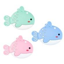 Chenkai-anneau de dentition en Silicone   10 pièces, en forme de poisson, pendentif sensoriel pour bébé, qualité alimentaire pour bébé, bricolage joli soins pour bébé, cadeaux sucette