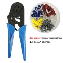 Couleurs main sertissage outils ensemble professionnel HSC8 16- 4 6.0 - 16mm2 AWG10-5 électrique tubulaire Terminal pince Kit