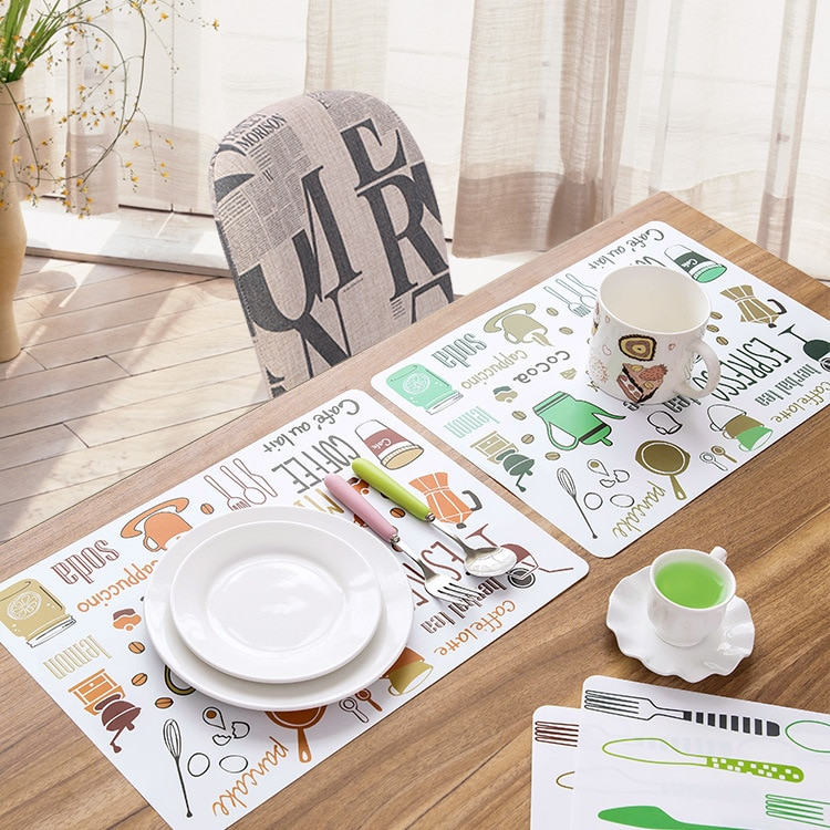 Manteles de estera de mesa de PVC niños vajilla de mesa de...