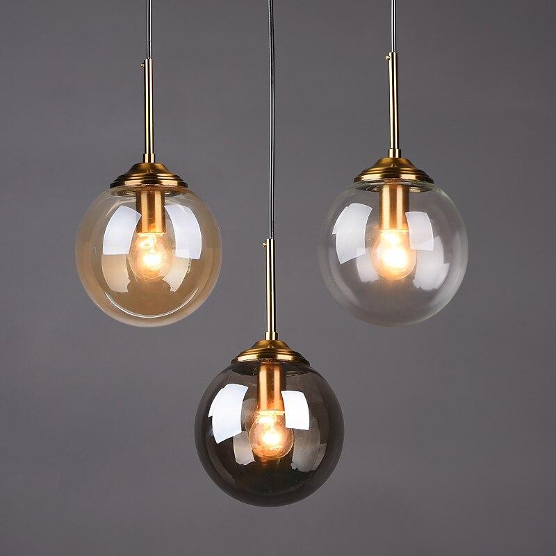 الحديثة قلادة أضواء الشمال كرة زجاجية معلقة مصباح ل غرفة الغزل غرفة نوم لوفت ديكور الإنارة تعليق تركيبات بإضاءة Led