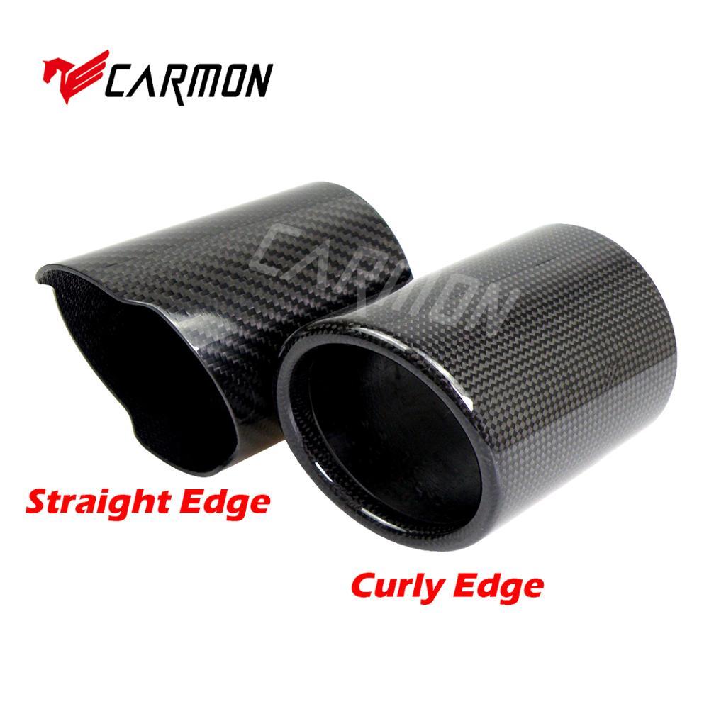 Tubo de escape Universal de fibra de carbono para Cubierta de fibra de carbono, silenciador, caja de fibra de carbono, sin LOGO