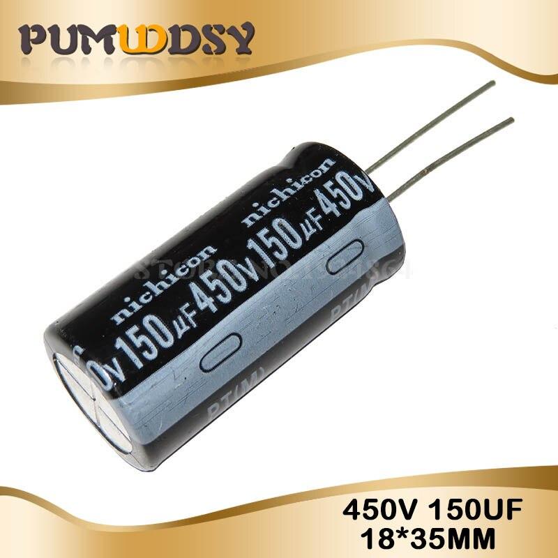 5PCS 450v150uf 150uf450v 18*35mm 18x35 Electro capacitor Eletrolítico 450v 150uf