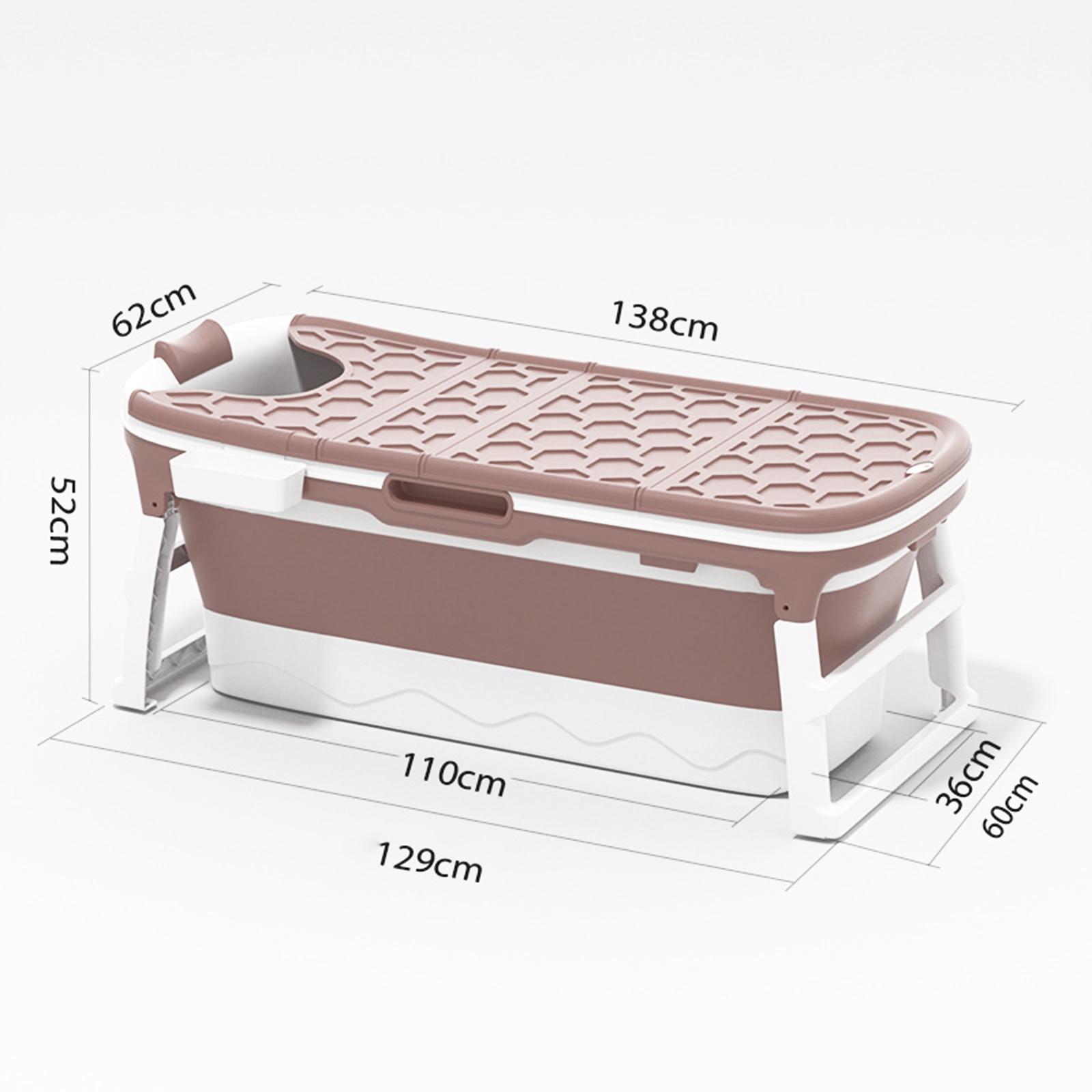 1.4m Adult Folding Bathtub Thickening Folding Bathtub Portable Large Household Bathtub Bucket Whole Body Child Sauna enlarge