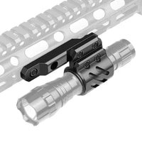 mlok offset flashlight ring picatinny mount included 2 mounting inserts fits 27mm 25 4mm 20mm diameter for hunting flashlights