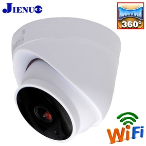JIENUO 1080P HD Panoramic View Wireless Camera Ip Cctv Security Surveillance Video Audio Cam Infrared Dome Wifi Smart Home Ipcam