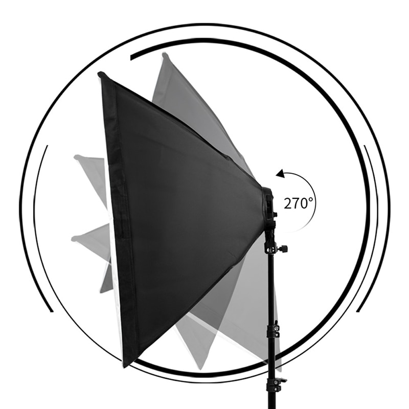 50x70cm Photography Softbox Lighting Kits Professional Continuous Light System Soft Box Accessories For Photo Studio Equipment enlarge