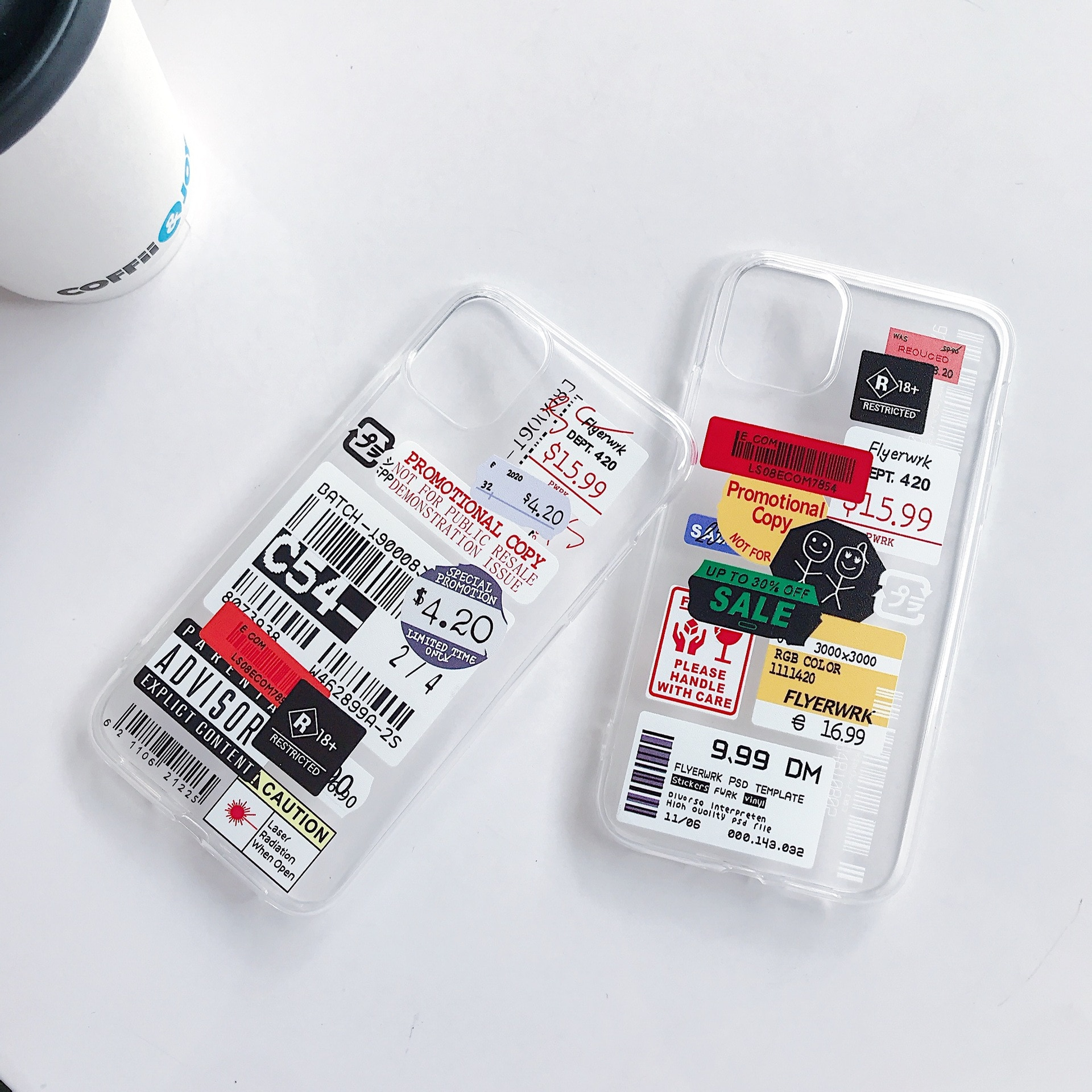 TPU transparent phone case Fro iPhone 12 11 Pro Max X XS XR 6 6S 7 8 Plus XS Max iPhone 11 Pro Label