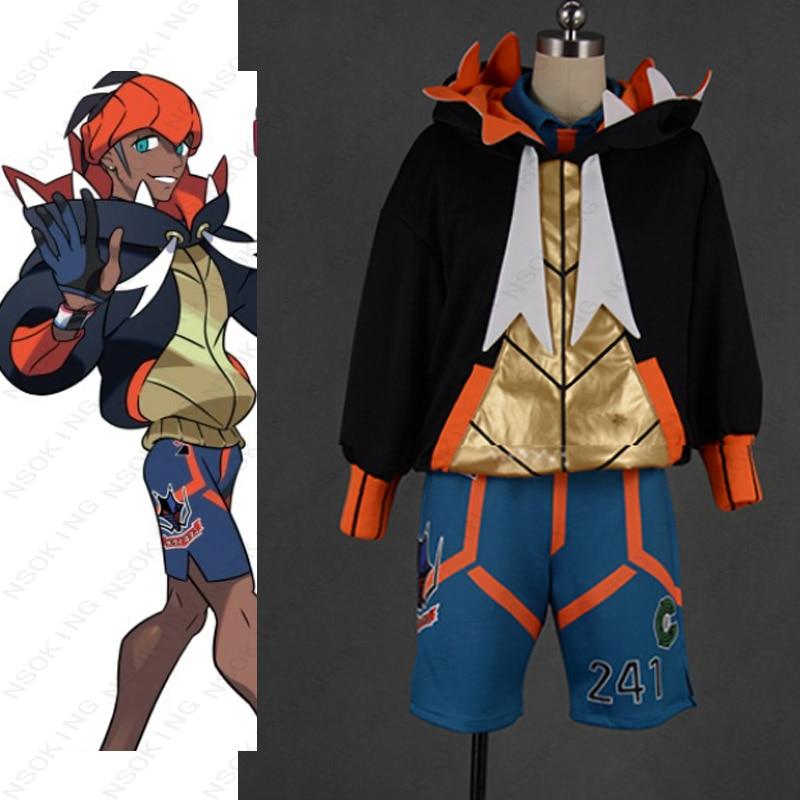 Anime Pokemon Sword Shield Raihan cosplay costume custom-made