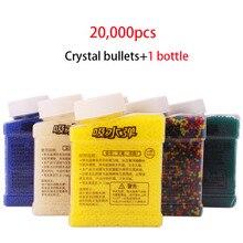 20000 Pcs/Flasche 9mm Kristall Wasser Kugeln Pistole Zubehör Paintball Kugel Spielzeug Multicolor Außenshotting Gel Ball Blasters Jungen spielzeug