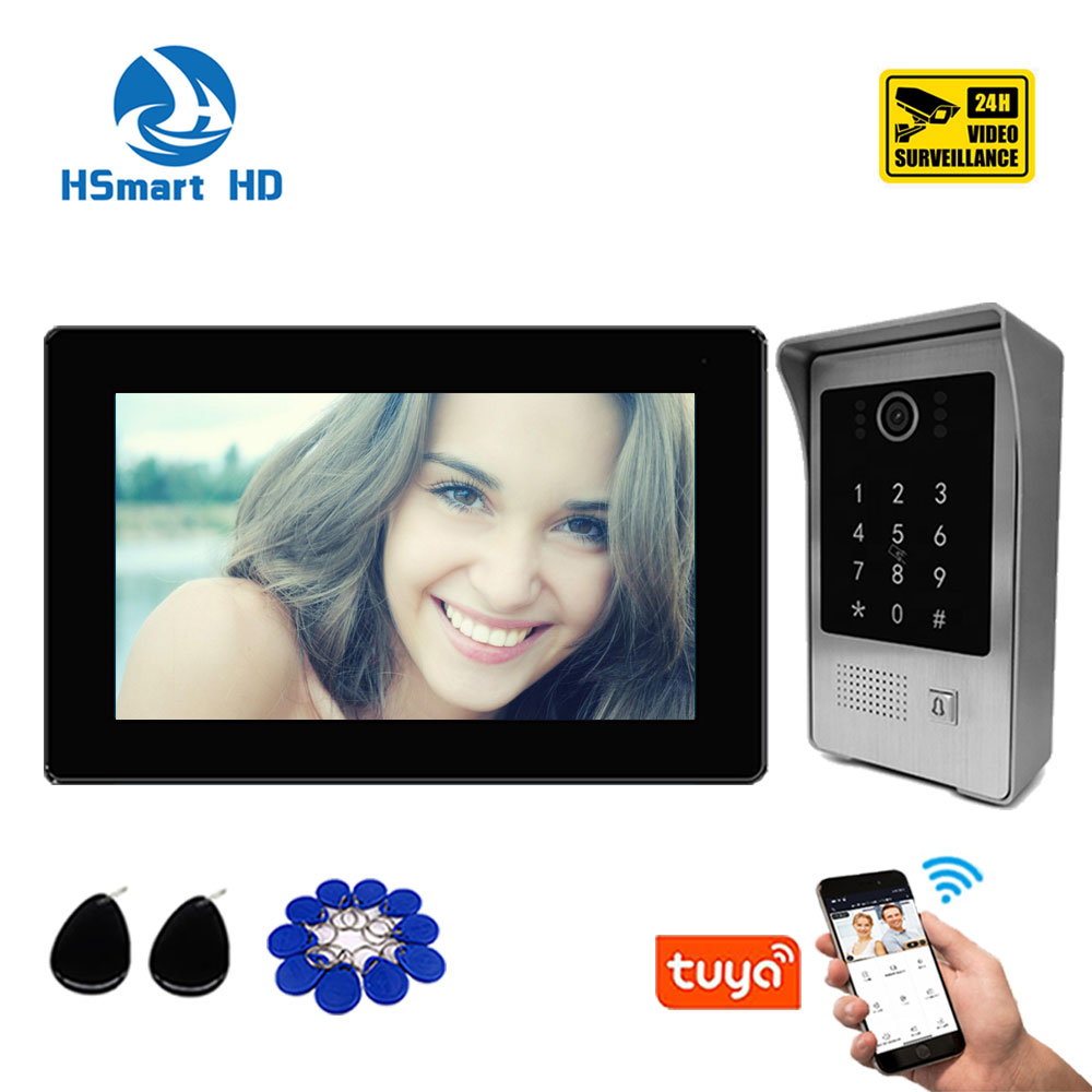 Home Security 7 Inch Wirless Wifi Tuya APP Smart Video Intercom System with HD 1080P Camera Support Record Password RFID Card enlarge