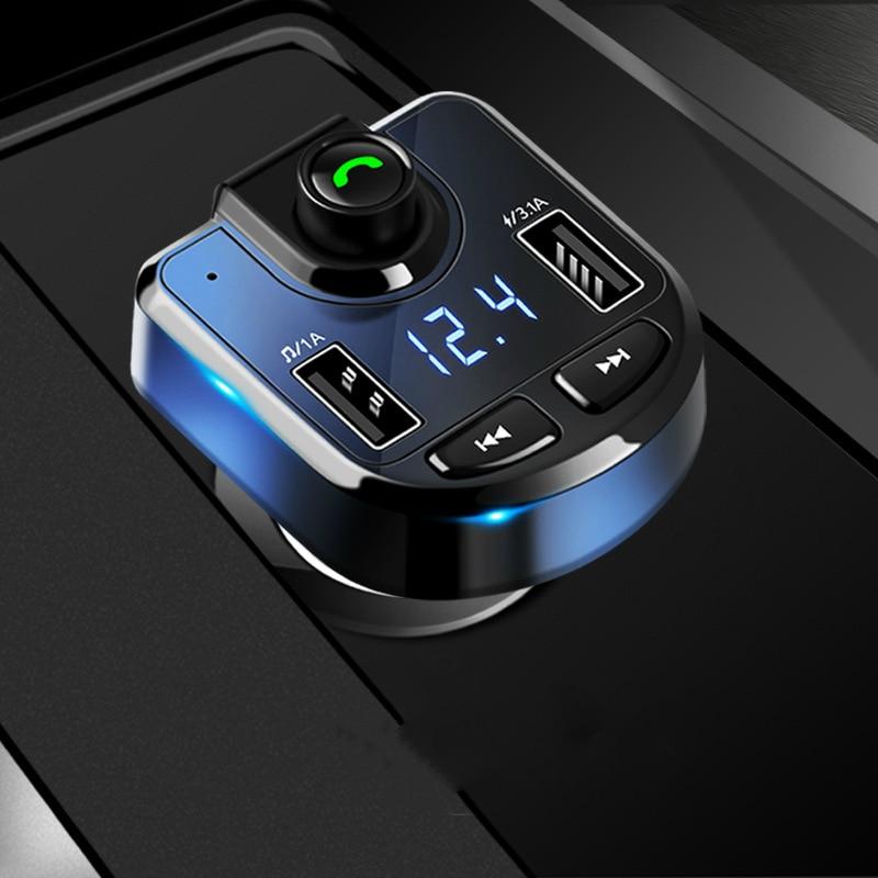 3.1A cargador USB rápido Bluetooth Kit de coche transmisor FM modulador Audio música reproductor Mp3 teléfono inalámbrico manos libres Carkit
