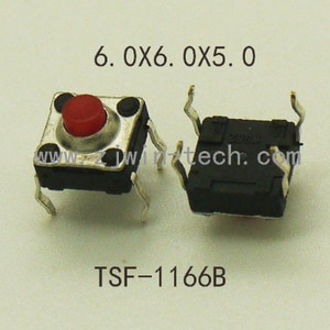 100PCS 6x6x5mm Waterproof Momentary Tactical Button Switch 4PIN DIP Key Button Micro Button Switch