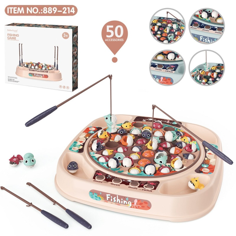 Children's Fishing Toys Lighting Music Rotating Diaoyutai Set Children Electrics Magnetic Outdoor Sports Playing Game Toy Gifts  - buy with discount