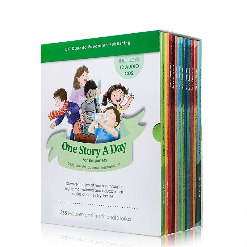 12 books English Reading Book One Story A Day For Beginners 365 Stories From Everyday Life Around The World Funny Tales  Age 5-7