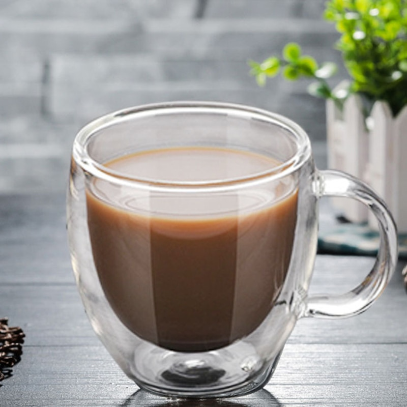 Taza para té y café, vaso De vidrio De doble pared para...