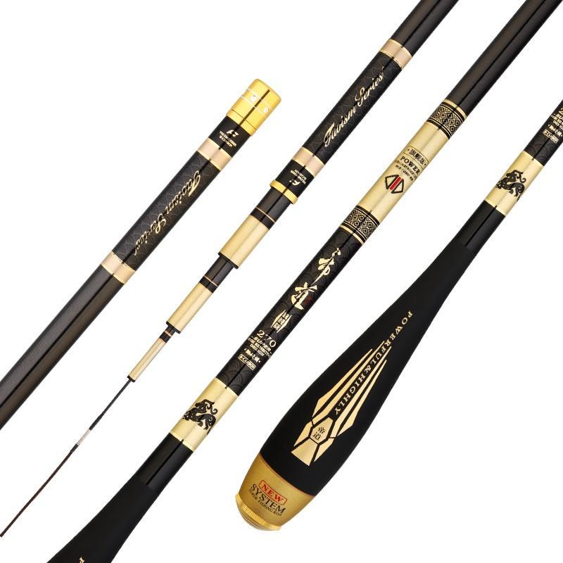 2.7M-6.3M Taiwan Fishing Rod 4H 5H 6H Super Hard Hand Pole Carbon Fiber Telescopic Wedkarstwo Olta De Pesca Carp  Sticks enlarge