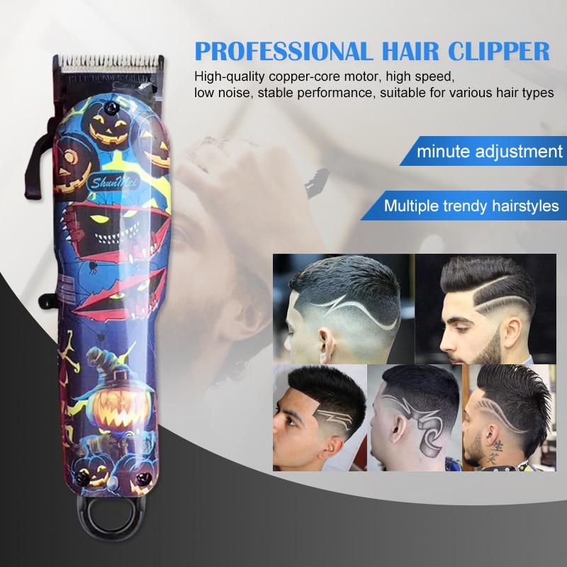 Máquina de corte poderosa profissional recarregável do cabelo da máquina de corte do cabelo do cortador 100-240v