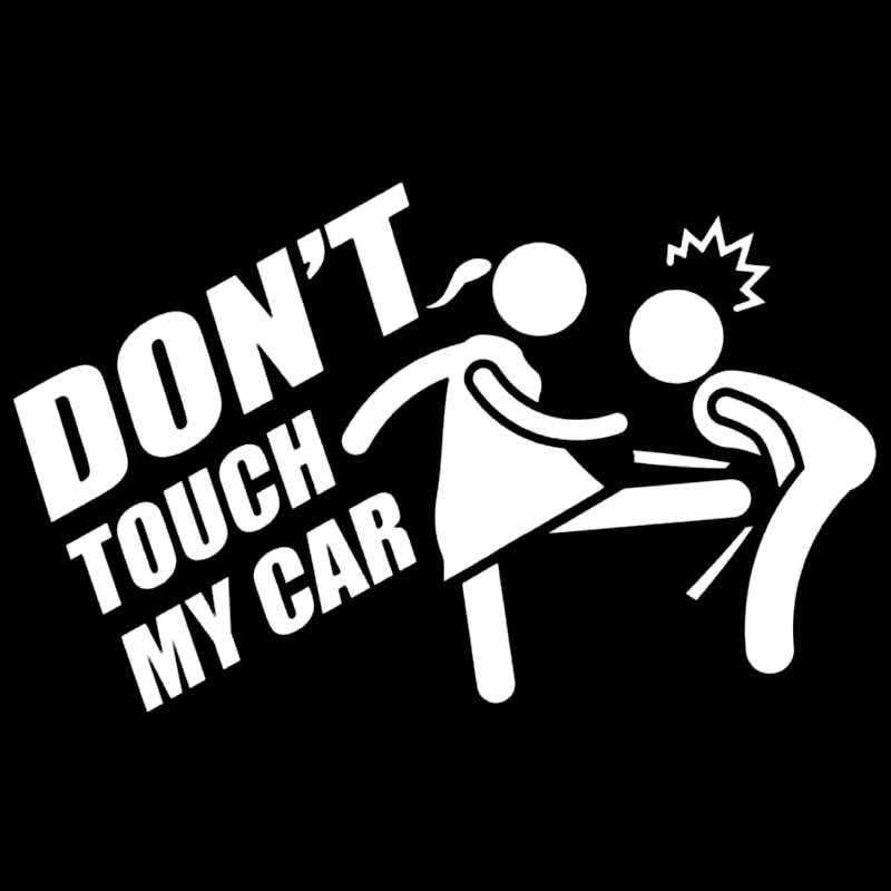Купить с кэшбэком Don't touch my car 16cmx10cm Car Sticker and Decals Car Decorative Supplies accessory car interior Vinyl