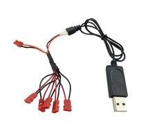 Câble de chargeur USB avec 5 en 1 ligne de Conversion pièce de rechange pour SYMA X5HC X5HW X5UC X5UW RC Drone quadrirotor pièce de rechange accessoire