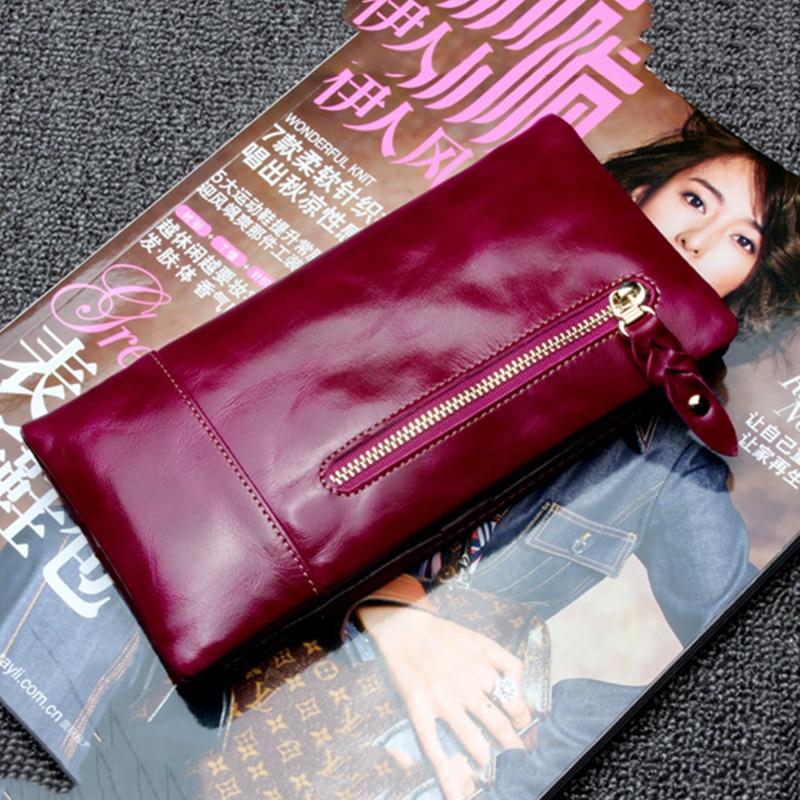 Новинка 2021, кожаный кошелек двойного сложения с мягкой кожаной пряжкой, женский длинный тонкий студенческий простой кошелек в Корейском стиле
