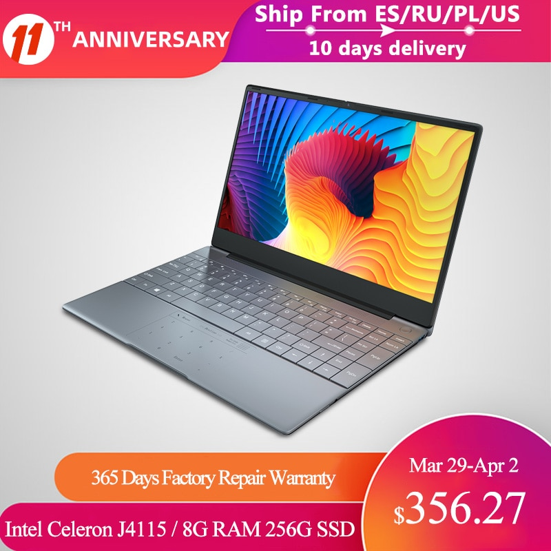 KUU K2 All Metal 14.1 Inch IPS Screen 8G RAM 512G 256GB SSD Fingerprint Notebbok Full Size Backlit Laptop Windows 10 Office Game